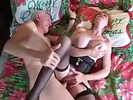 Perverted old guys know no boundaries in sex and suck each other's cock while fucking a woman