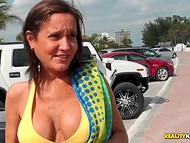 A report about female breasts in which women show their tits on the street